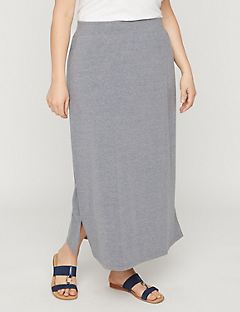 Suprema Maxi Skirt in Gray