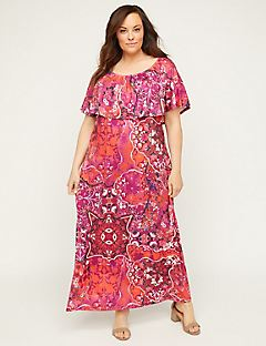 Fuchsia Meadow Maxi Dress