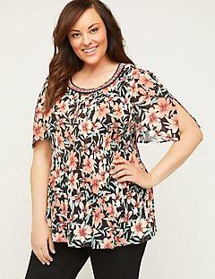 247cc5662 Plus Size Shirts & Blouses | Catherines