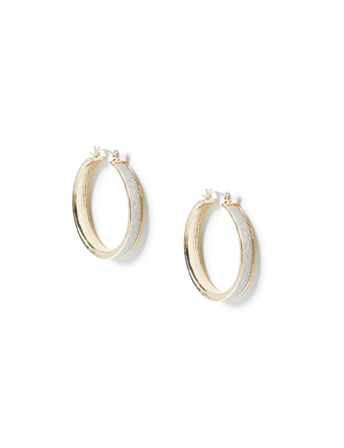 All That Glitters Hoop Earring