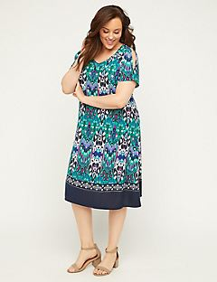 Printed Reunion A-Line Dress