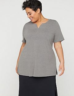 Notch-Neck Suprema Tunic Top