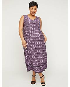 5491f06ad3dc image of AnyWear Violet Meadow A-Line Dress with Pockets with sku:317527