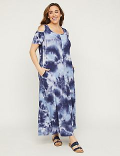 d96b1f0daf Tie-Dye Maxi Dress with Pockets