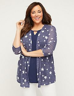 Star Shadow Stripe Cardigan