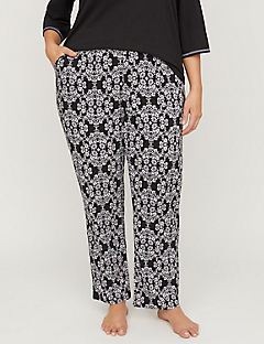 Orchid Imprint Cozy Cotton Sleep Pant