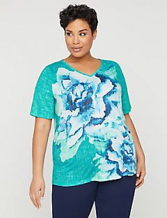 Brushstroke Floral Top