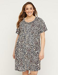 Animal Print Cotton Sleepshirt