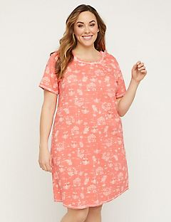 Palm Tree Cotton Sleepshirt