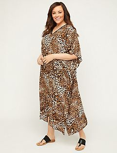 Animal Print Caftan Overpiece