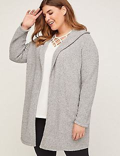 Gray Sky Hooded Cardigan