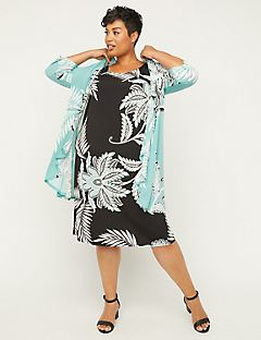Aqua Breeze Jacket Dress