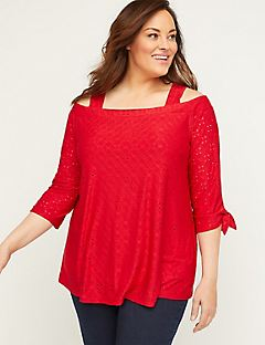 Morning Dew Eyelet Top