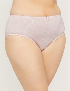 Microfiber Hi-Cut Brief Panty in Print