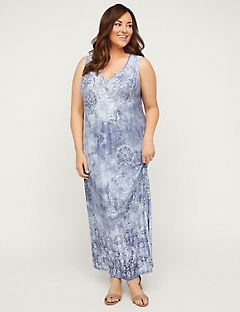 Artistic Sparkle Maxi Dress