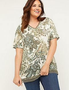 Botanical Duet Tunic Top