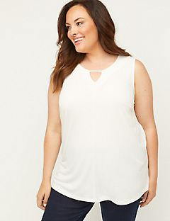Timeless Tunic Tank with Cutout