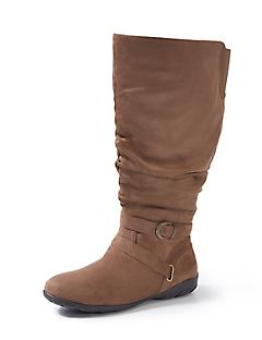 Good Soles Faux-Suede Slouch Boot