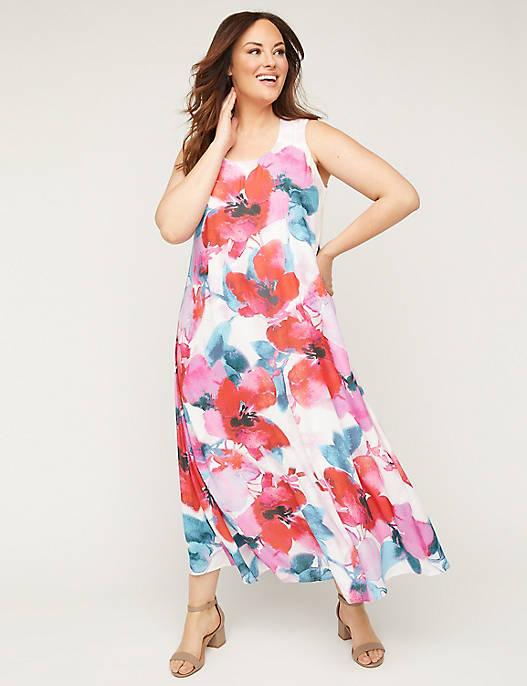 Black Label Floral Maxi Dress