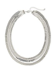 Silver Serenade Layered Necklace