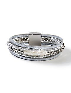 Silver Saddle Wrap Bracelet