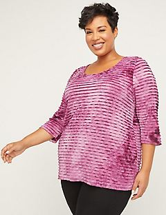 Waterscape Ruffle Top