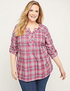 Waterfront Plaid Top