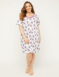 Iris Mist Sleepshirt with Lace