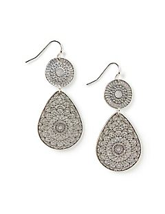 Swirling Marina Double Drop Earrings