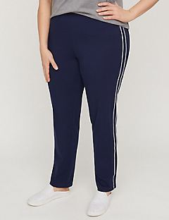 Straight Leg Pant with Side Piping