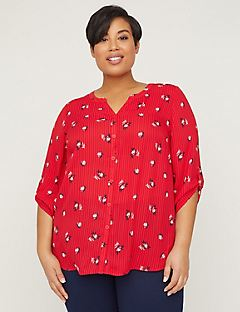 Georgette Buttonfront Blouse