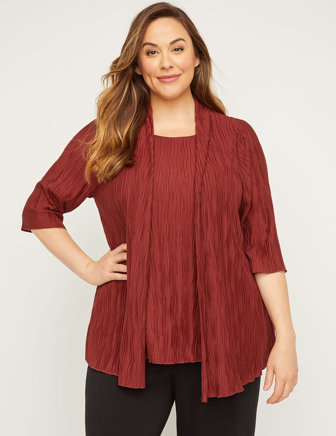 AnyWear Crinkle Duet Top