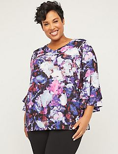 Black Label Shadowmoss Flutter Top