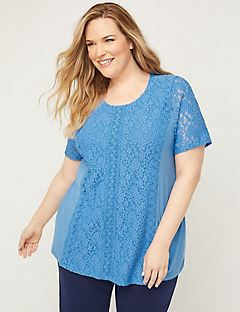 Riviera Embroidered Lace Top