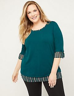 Ruffle Striped Duet Top