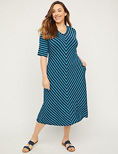 Bayshort Stripe Dress With Pockets
