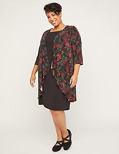 Floral Grove Jacket Dress