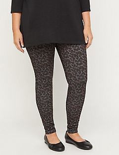 Animal Print Ponte Knit Legging