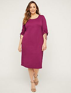 Deep Magenta Shift Dress