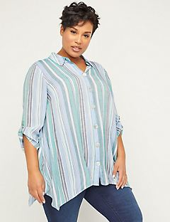Paradise Hills Buttonfront Tunic Top