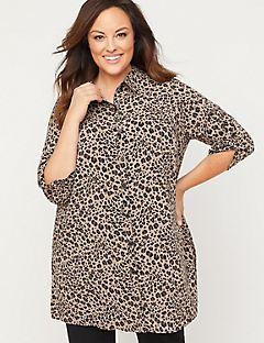 Signature Crepe Wild Side Tunic Top