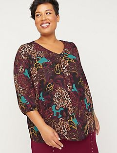Black Label Dreamscape Georgette Blouse