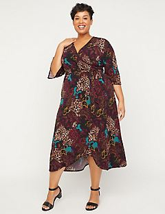 Black Label Dreamscape Faux-Wrap Dress