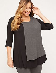 AnyWear Layered Drape Tunic