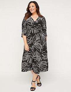 Woodland Shores Faux-Wrap Dress