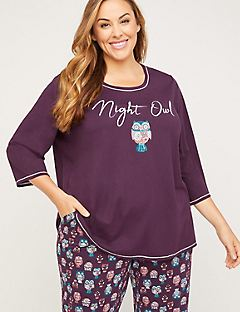 Night Owl Cotton Sleep Top