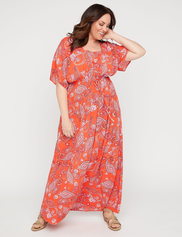 Horizon Paisley Maxi Dress,Plus Sizes 0X-5X