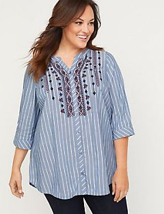 Hartfield Buttonfront Tunic Top