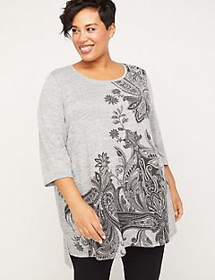 ComfySoft Paisley Sparkle Tunic Top