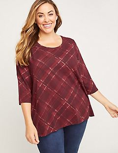 Redwood Plaid Top